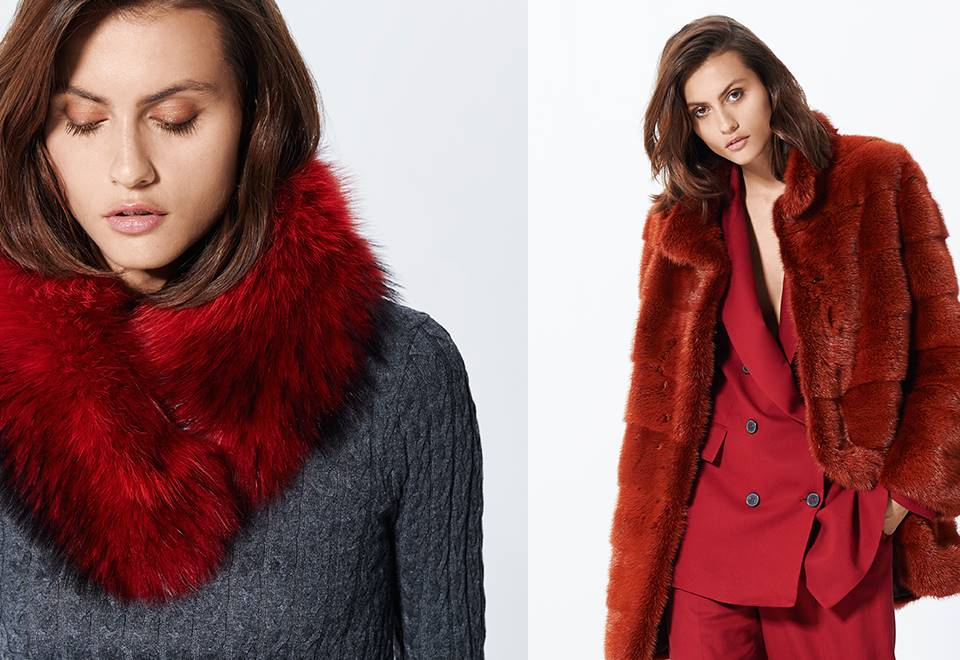 Complementos y prendas peletería colores llamativos.