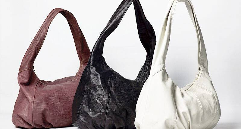 Three leather bags of Prieto Barcelona collection