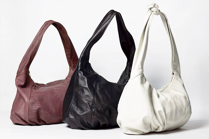 Tres bolsos de napa de la colección de Prieto Barcelona
