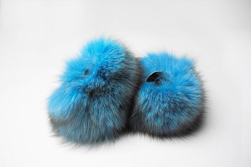 Blue fox cuffs